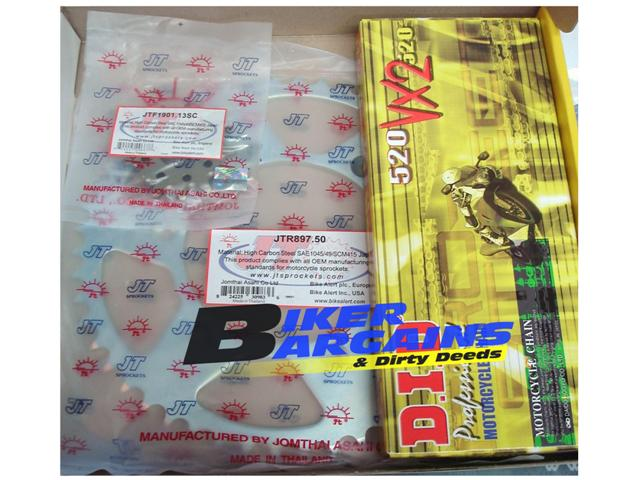 CHAIN & SPROCKET KIT DID 520VX JT KTM 13/50