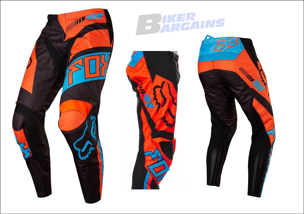 FOX 180 FALCON PANT 36 ORANGE/BLUE