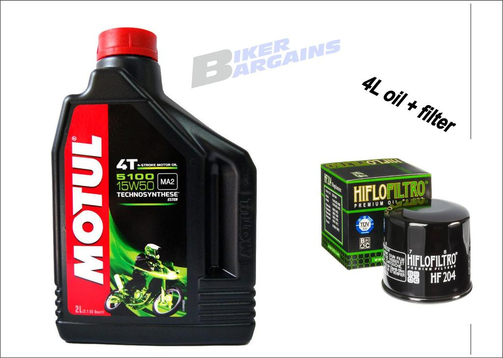 MOTUL 5100 Filter Combo SPIN ON HF204 HF303 HF138